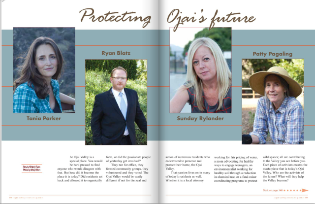 Ojai Visitors Guide Fall 2015 pg 144-145 Protecting Ojai's Future