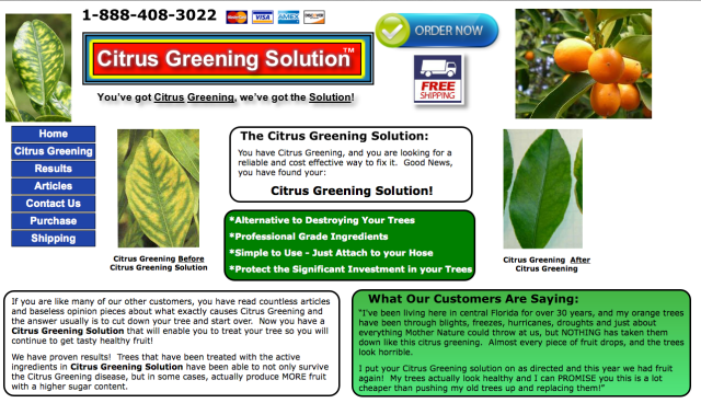 Citrus Greening Solution