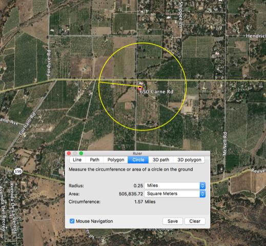 San Antonio 1:4 mile radius